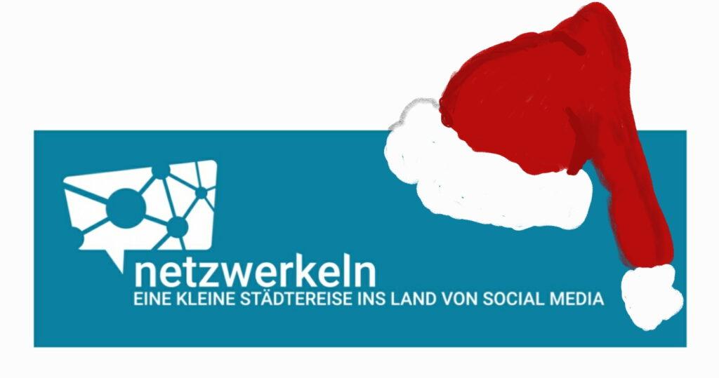 Logo von Netzwerkeln mit Weihnachtsmütze