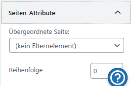 Option Seiten-Attribute